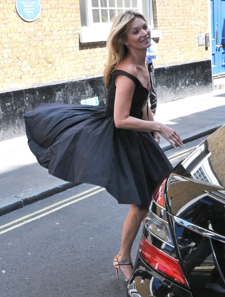 """Kate Moss had a """"Marilyn Monroe"""" moment in London."""