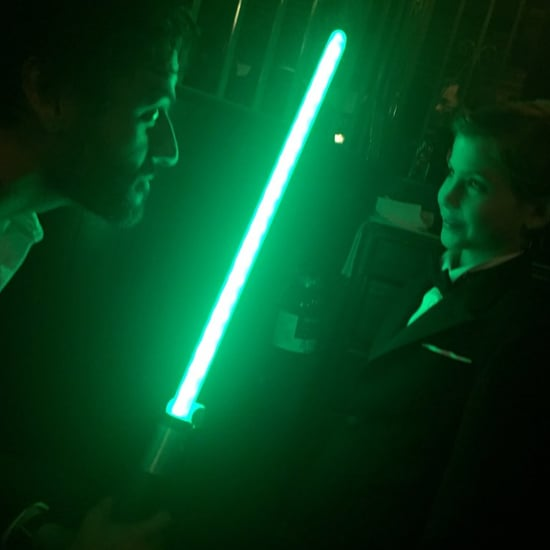 Oscar Isaac and Jacob Tremblay Have a Jedi Battle