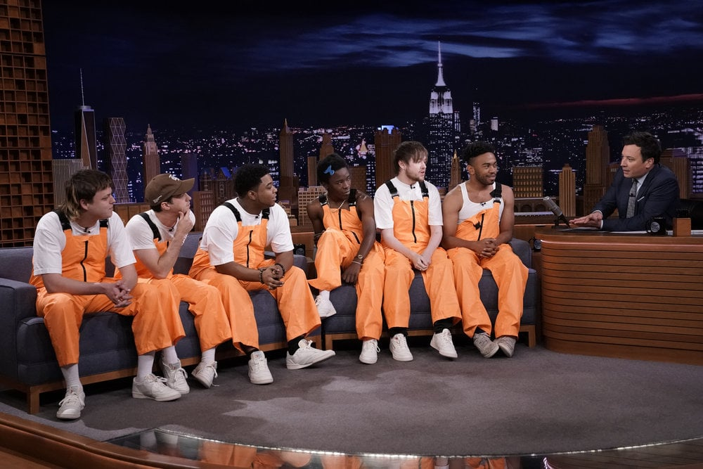 Brockhampton Rapping About Jimmy Fallon's Taxi Movie Video