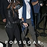 Nina Dobrev went with a mask.