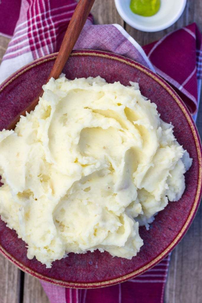 Parmesan Wasabi Mashed Potatoes