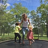 Gisele Bündchen got bouncy with Benjamin and Vivian on a beautiful day!
