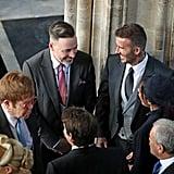 Elton John, David Furnish, David and Victoria Beckham