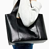 Topshop Taylor Black Slouchy Tote Bag