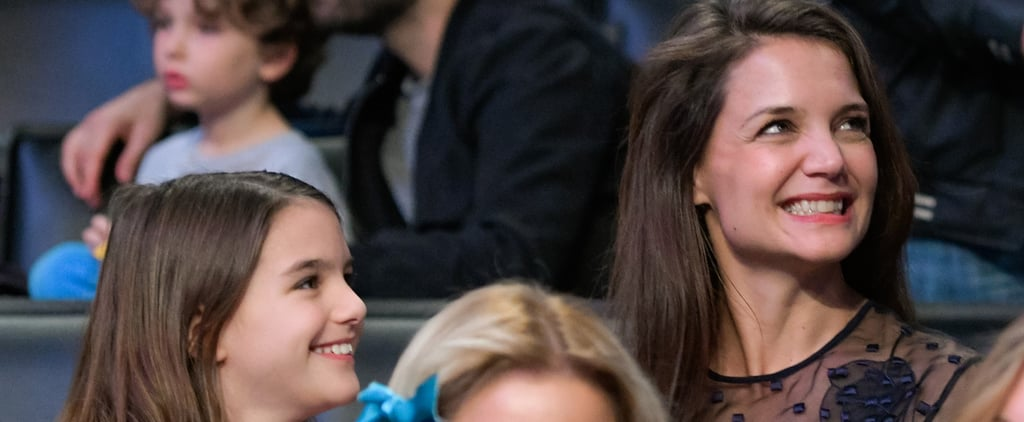 Katie Holmes Can't Stop Giggling With Daughter Suri at a Lakers Game