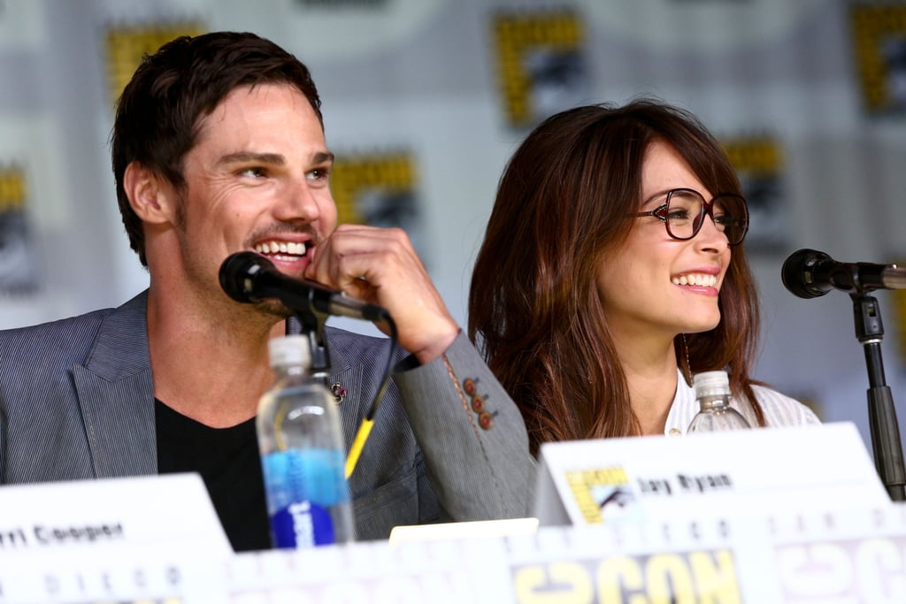 Kristin Kreuk and Jay Ryan attended the Beauty and the Beast panel for Comic-Con.