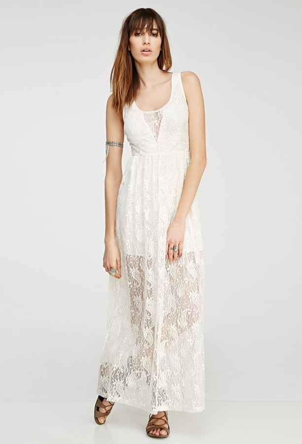 Forever 21 Floral Lace Maxi Dress 28 White Wedding Guest