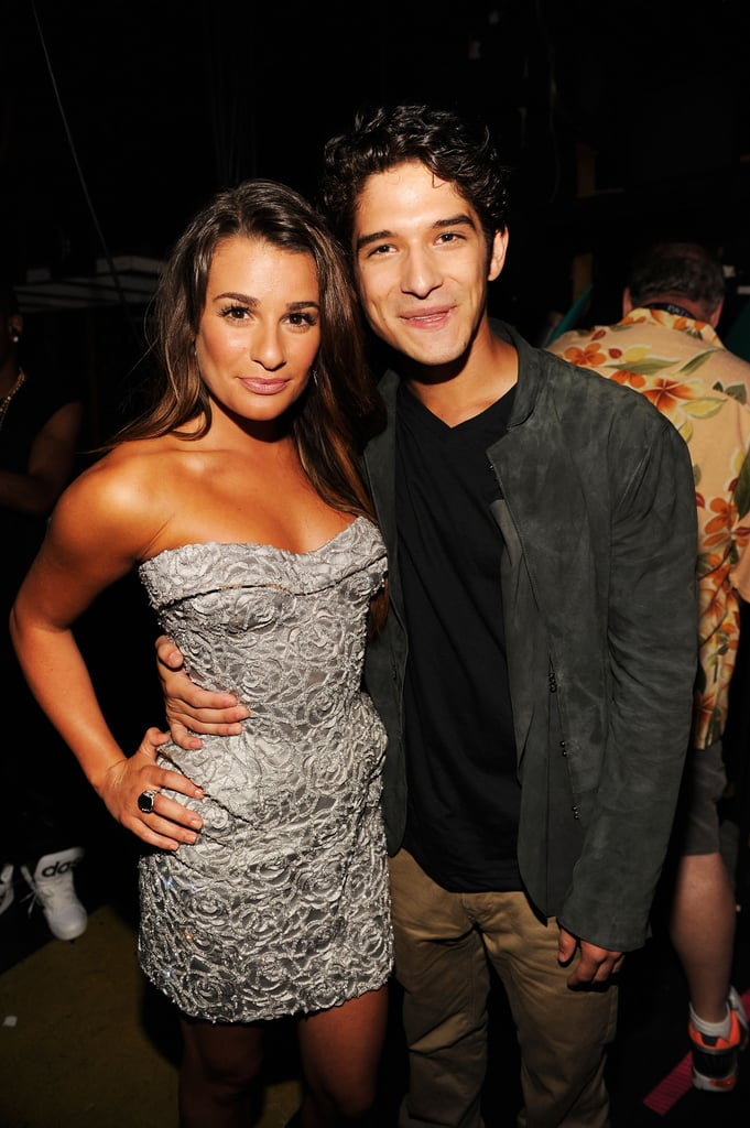 Lea and Tyler Posey took a photo together backstage at the July 2012 Teen Choice Awards in LA.