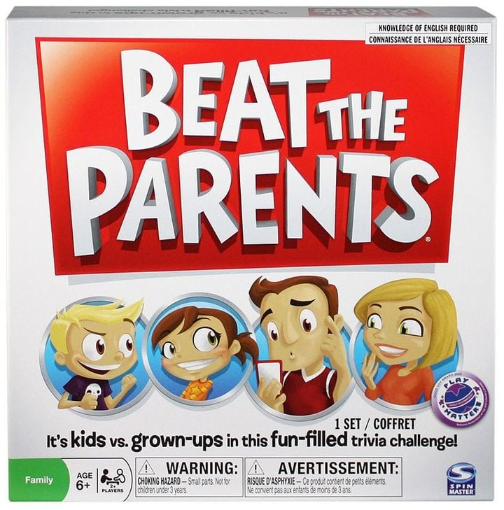 Spin Master Beat the Parents Trivia Game