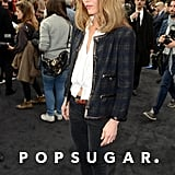 Vanessa Paradis wore a classic Chanel jacket to the Chanel show in Paris on Tuesday.