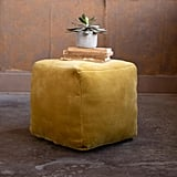 Honey Velvet Pouf