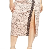 Leith Pull-On Lace Trim Skirt