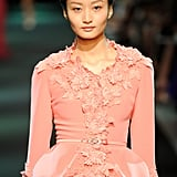 Floral appliqués charmed us on the Georges Hobeika Haute Couture Fall 2013 runway.