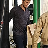 Hello, Christian! Jamie Dornan's hair was combed to perfection on the set of the Fifty Shades of Grey movie in Vancouver on Wednesday.