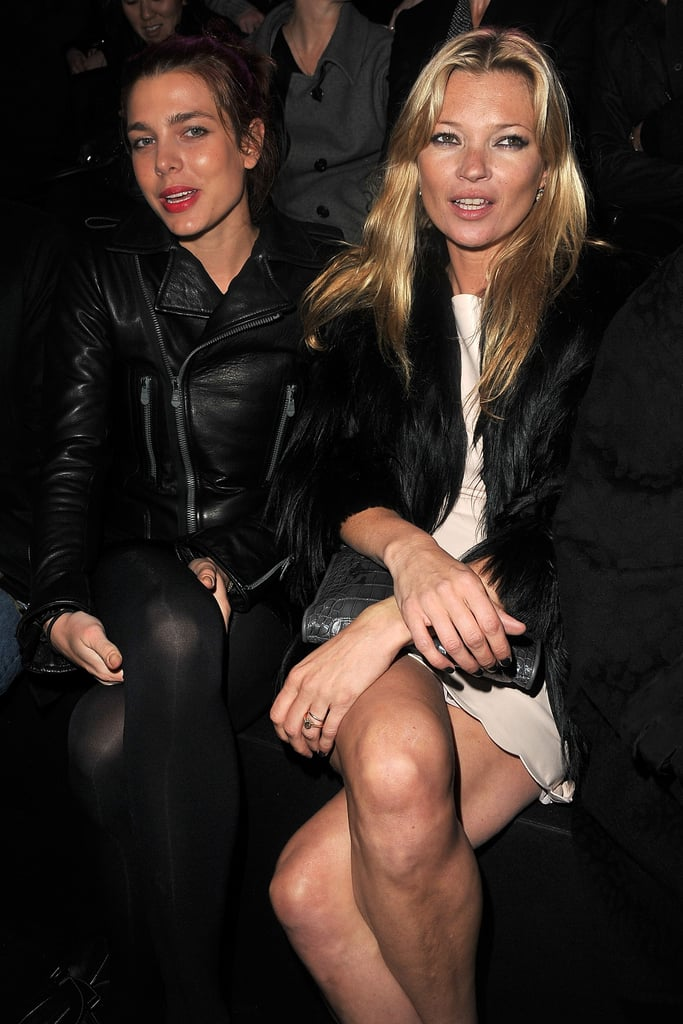 Princess of Monaco Charlotte Casiraghi and Kate Moss got the party started at the Etam fashion show in Paris in January 2011.