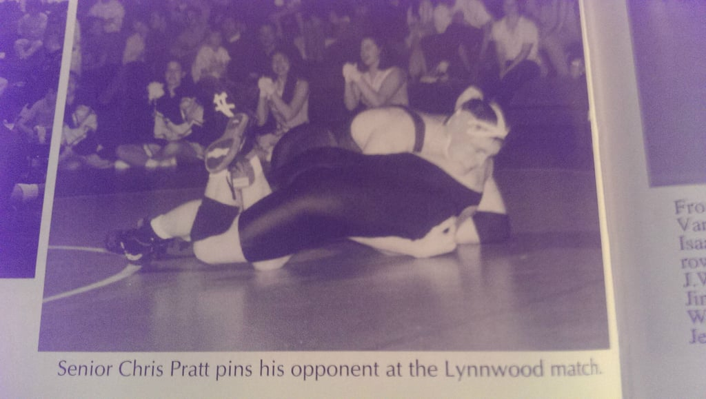 Chris Pratt was also a wrestler in high school. Source: Reddit user warped_and_bubbling