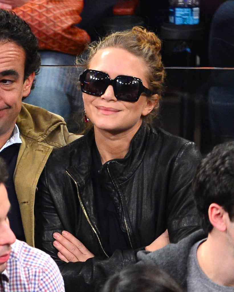 Mark-Kate Olsen wore sunglasses while out in NYC.