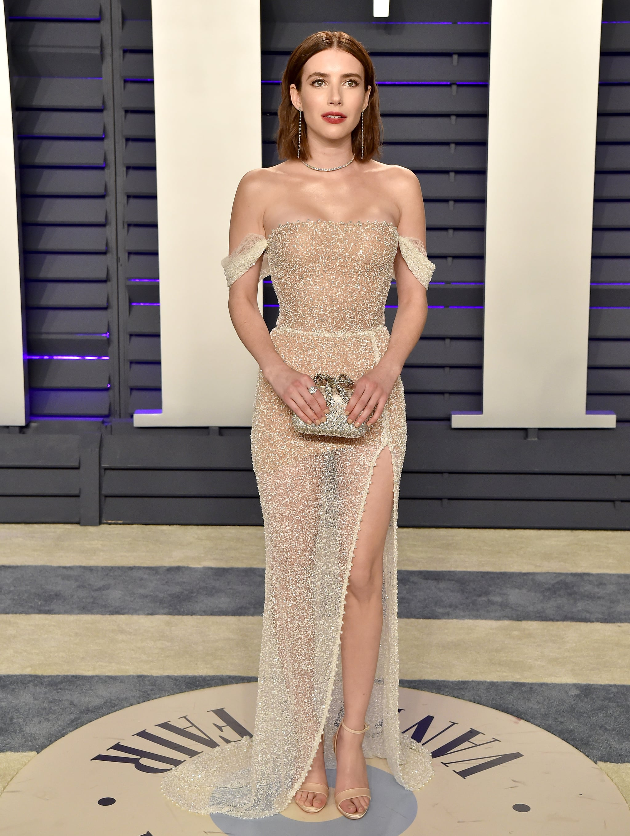 Emma Roberts At The 2019 Vanity Fair Oscars Party The Afterparty Beauty Looks Were So Good We Think They Deserve Oscars Too Popsugar Beauty Photo 7