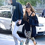 Ariana Grande Outfit: Camouflage Pants + Heels