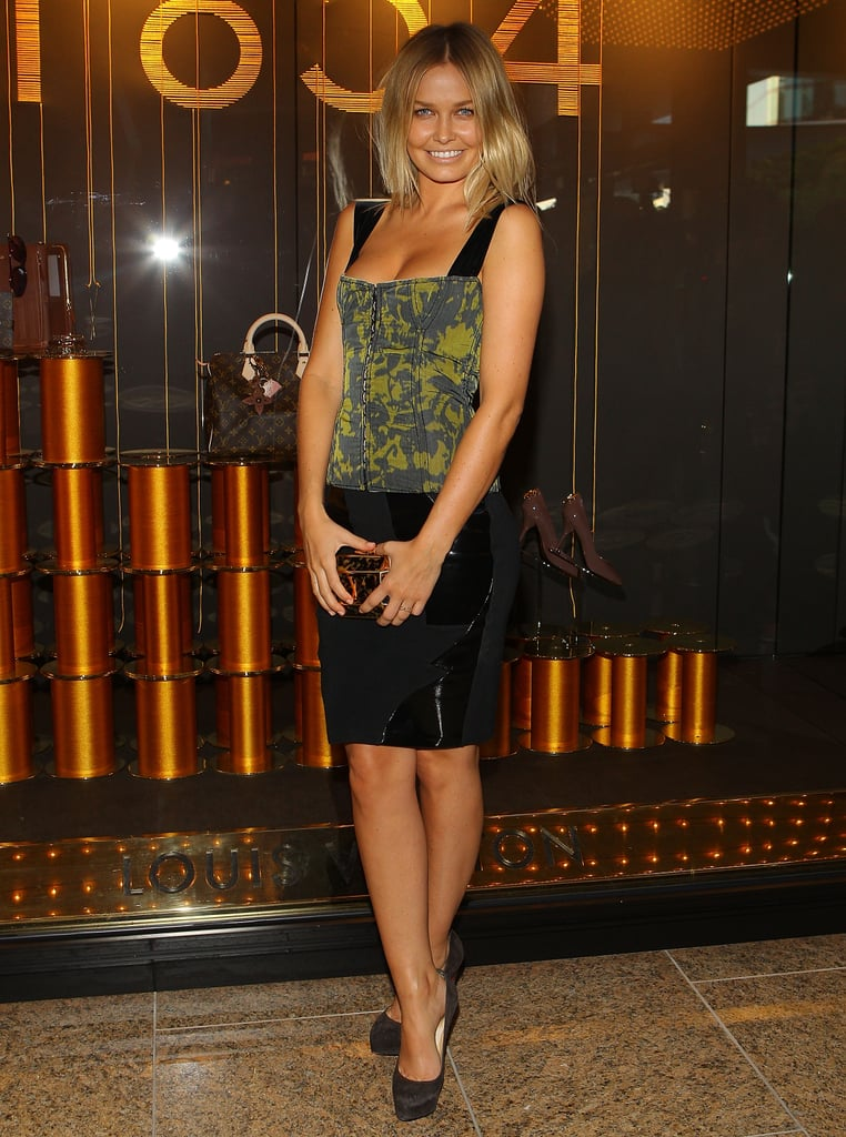 Lara attended the opening of the Louis Vuitton store at the Crown in Melbourne in Oct. 2010.