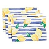Indoor Outdoor Lemon Placemats