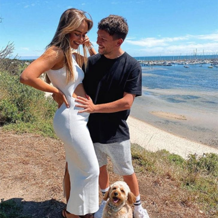 Steph Claire Smith's White Cut-Out Dress in Pregnancy Post