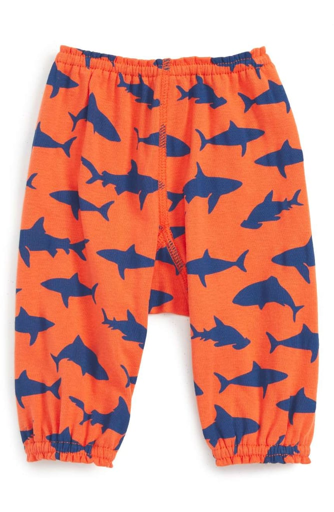 Infant Peek Happy Shark Print Pants