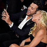 Luke Bryan Taking a Selfie With His Wife, Caroline Boyer