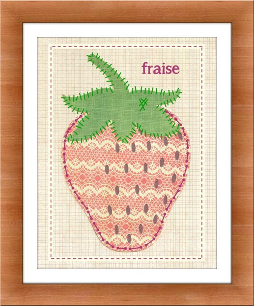 Add the French Strawberry Art print ($14) to your little one's gallery wall for a touch of French flair.