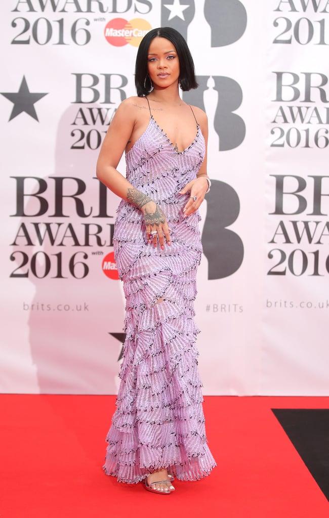 Rihanna\'s Armani Dress at the Brit Awards 2016 | POPSUGAR Fashion ...