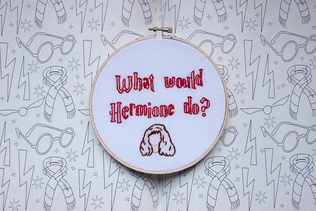 Hermione Embroidery Hoop ($26)