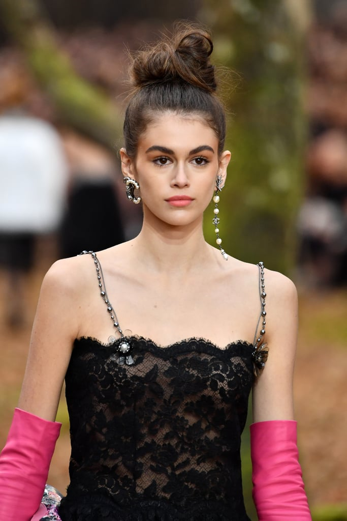 Kaia Gerber Walking the Chanel Show at Paris Fashion Week Fall 2018