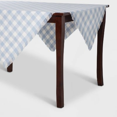 Check Table Throw Blue