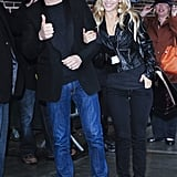 Luisana Lopilato was by Michael Bublé's side for a March 2010 appearance in NYC.