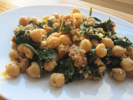 Spinach With Garbanzo Beans Recipe