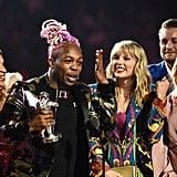 Todrick Hall and Taylor Swift at the 2019 MTV VMAs