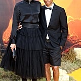 Pictured: Helen Lasichanh and Pharrell Williams at The Lion King premiere in London.