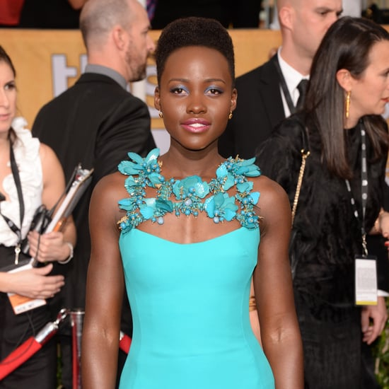 Lupita Nyong'o in Blue at the 2014 SAG Awards Red Carpet