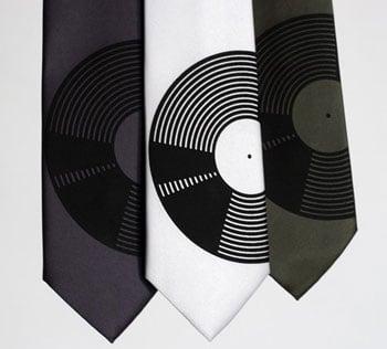 Vinyl Record Neck Tie