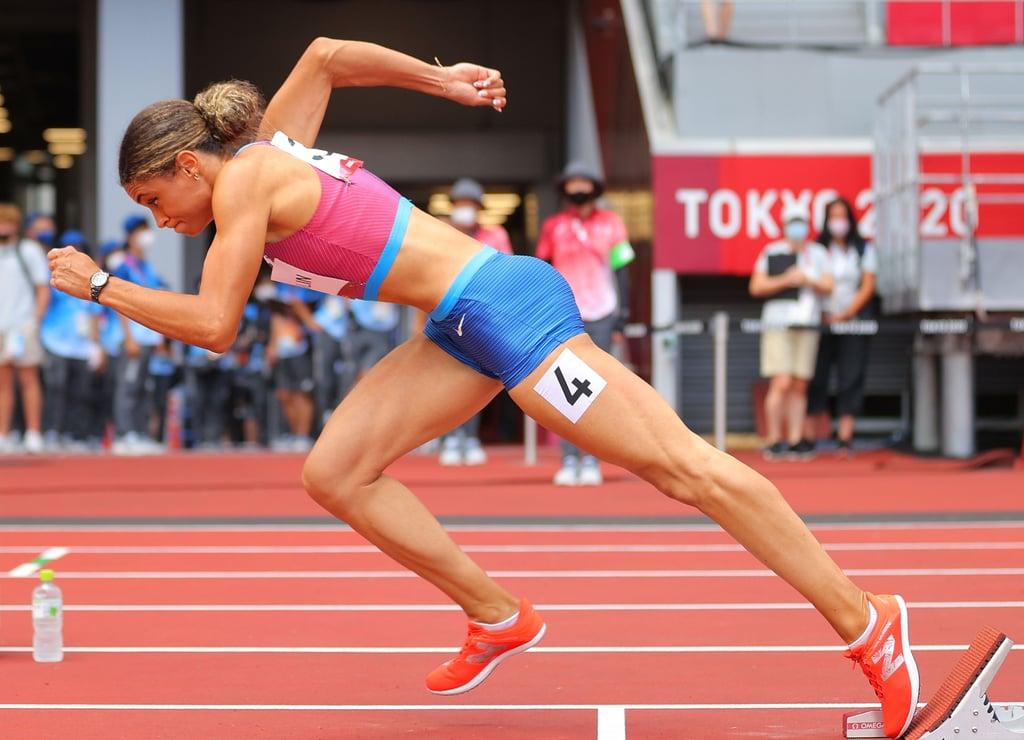 Sydney McLaughlin Running the Women's 400m Hurdles at the 2021 Olympics