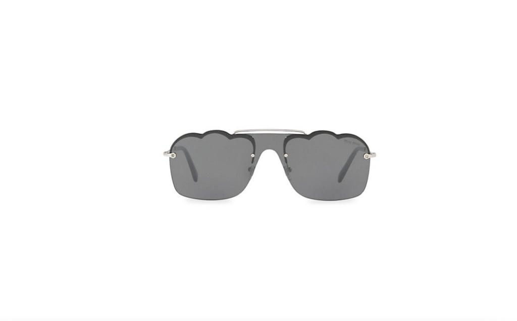 Miu Miu 60MM Scalloped Shield Sunglasses