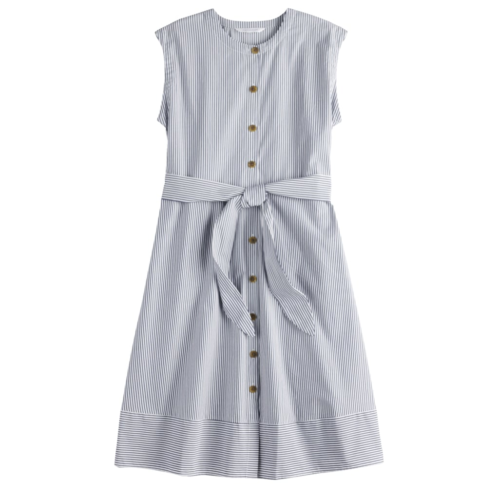 58ad0fb4b9e6 POPSUGAR Belted Button-Down Dress