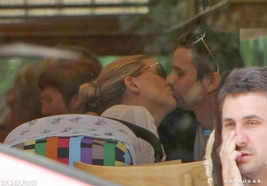 Kate Hudson and Matthew Bellamy shared a sweet moment in front of their newborn, Bingham, while out in London in August 2011.