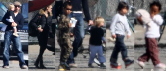 The Jolie-Pitt Six Take to the Sky