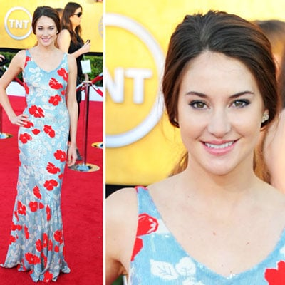 The Descendants Star Shailene Woodley Wears L'Wren Scott Floral Gown to the 2012 SAG Awards. Like?