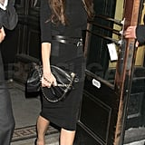Victoria Beckham left Balthazar in NYC.