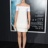 Emma Watson was a vision in white at the premiere in NYC.
