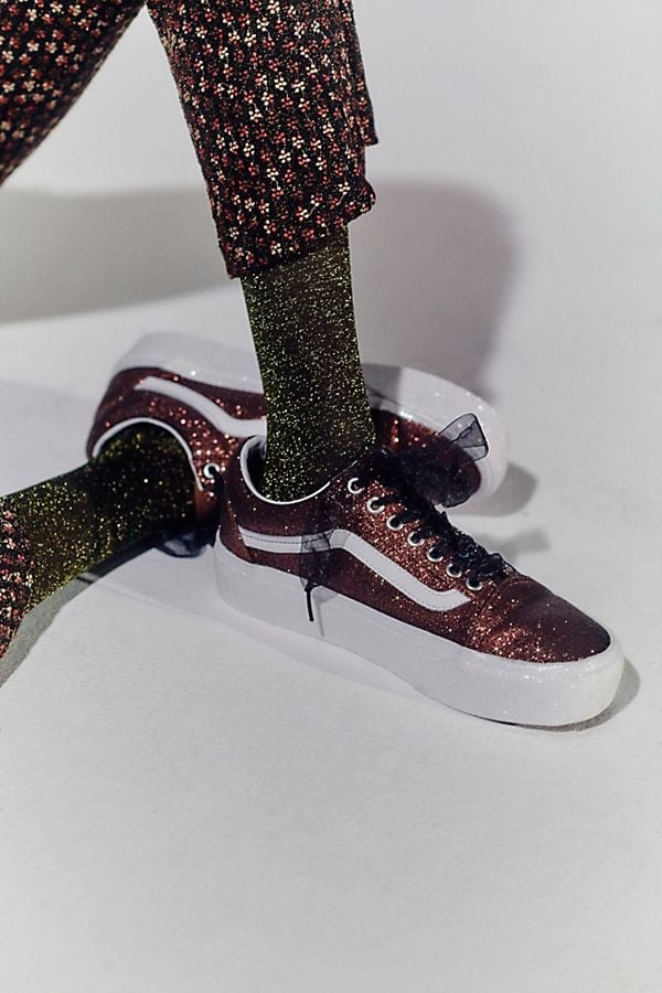 store super popular wide selection of colours and designs Vans Old Skool Glitter Platform Sneakers | 13 Cool Sneakers ...