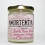 "Amortentia candle ($12) with fresh-cut sweet grass, clean spearmint toothpaste, and ""something else"" notes"