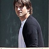 Ashton Kutcher met up with Mila Kunis to see a movie in LA.